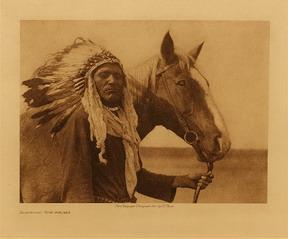 Photo indien tenant cheval